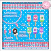 Kawaii Couture Pretty Pretty Popsicle Gacha Full Set Copy