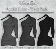 *Vanilla Bae* Amelie Dress - Black 3 Pack - Strip Me Collection - Maitreya / Freya / Legacy / HG