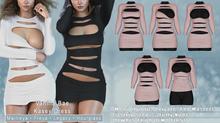 *Vanilla Bae* Kasey Dress - 3 Pack - Strip Me Collection - Maitreya / Freya / Legacy / HG