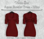 *Vanilla Bae* Aspen Dress - Wine Pack - Strip Me Collection - Maitreya / Freya / Legacy / HG