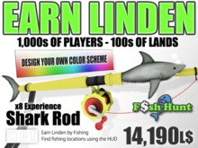 Linden Fish Hunter - Shark Magic Rod [Fishing Extended] - Earn Linden hunting for fish