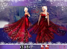 Christmas Snow Dream Gown - Red