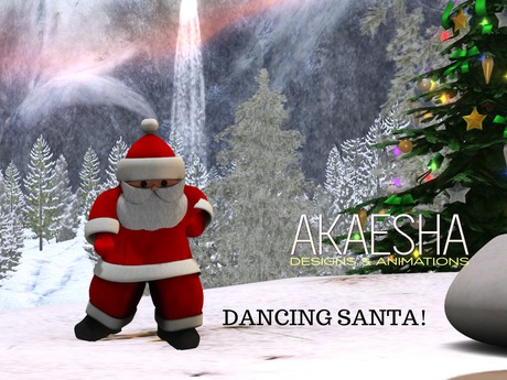 Adorable Animesh Dancing Santa (Animated Christmas Decoration)