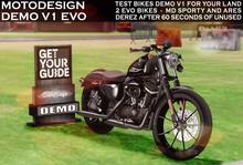 MotoDesign - DEMO V1 TEST BIKES FOR YOUR LAND - EVO