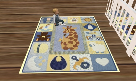 Baby Childs Rug Giraffe Design