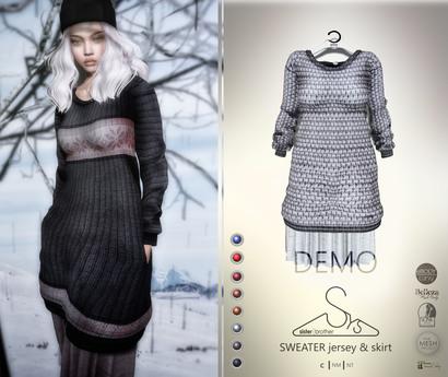 [sYs] SWEATER jersey & skirt (body mesh) - DEMO