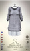 [sYs] SWEATER jersey & skirt (body mesh) - grey
