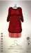 [sYs] SWEATER jersey & skirt (body mesh) - red