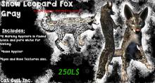 Cat Cult Inc. Snow Leopard Fox Gray [Boxed]
