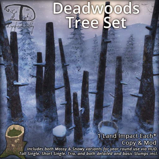 [DDD] Deadwoods Tree Set - 1 LI Forest Clutter