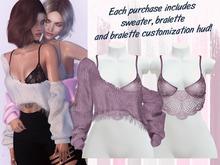 Lunar - Vivi Sweater & Bralette - Dusk