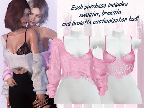 Lunar - Vivi Sweater & Bralette - Bubblegum Pink