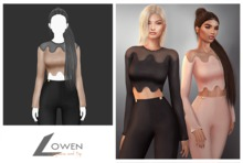 Lowen - LongSleeve Wool Top [Beige]