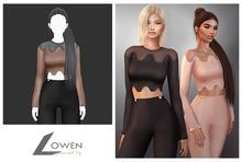 Lowen - LongSleeve Wool Top [Taupe]