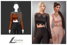 Lowen - LongSleeve Wool Top [Orange]