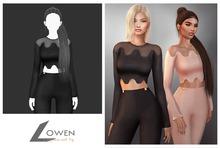 Lowen - LongSleeve Wool Top [Black]
