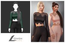 Lowen - LongSleeve Wool Top [Green]