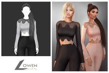 Lowen - LongSleeve Wool Top [White]