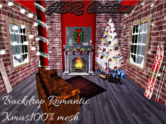 Backdrop Romantic Christmas