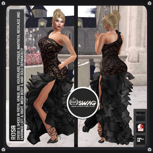 [RnR] Swag Rosa Outfit (Black) [BOX]