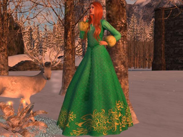 Gown Winter Teal Maitreya