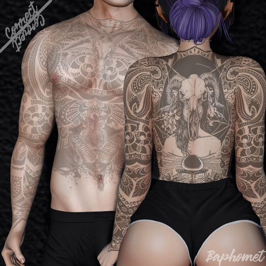 {CR} Baphomet Tattoo (With appliers)