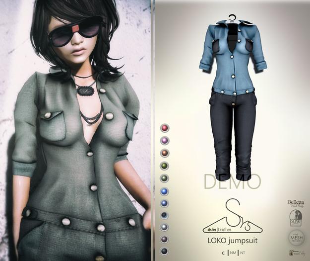 [sYs] LOKO jumpsuit (body mesh) - DEMO
