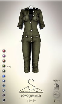 [sYs] LOKO jumpsuit (body mesh) - army
