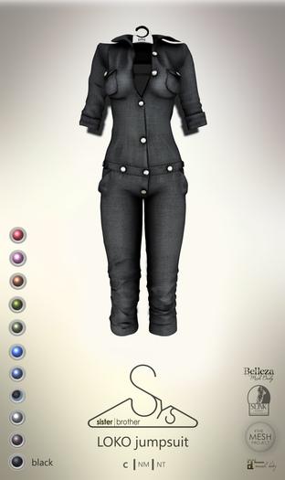 [sYs] LOKO jumpsuit (body mesh) - black