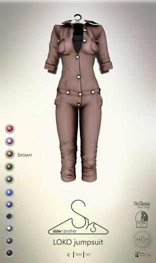 [sYs] LOKO jumpsuit (body mesh) - brown