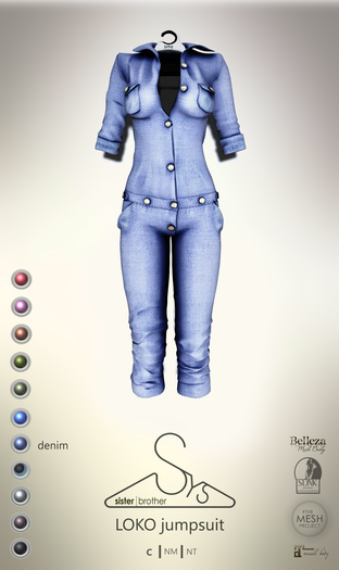 [sYs] LOKO jumpsuit (body mesh) - denim