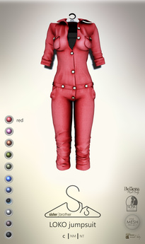[sYs] LOKO jumpsuit (body mesh) - red