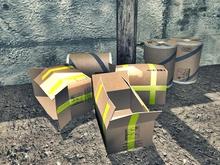 Cardboard Tube and Cardbox - Mesh 1 prim each