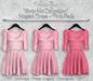*Vanilla Bae* Megan Dress - Pink 3 Pack - Strip Me Collection - Maitreya / Freya / Legacy / HG