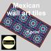 Mexican wall art tiles