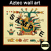 Aztec wall art sample
