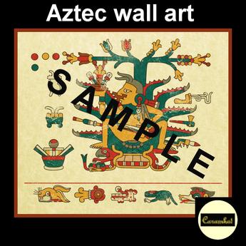 Aztec wall art