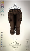 [sYs] Y6 pants (body mesh) - brown