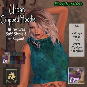 +DFF Urban Cropped Hoodie #13