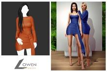 Lowen -  Kendall Wrap Dress [Orange]