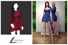 Lowen -  Kendall Wrap Dress [Burgundy]