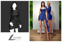 Lowen -  Kendall Wrap Dress [Black]