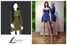 Lowen -  Kendall Wrap Dress [Army]