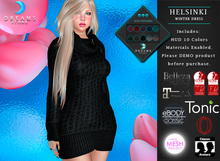 :::DREAMS::: Helsinki Winter Dress -FATPACK- [HUD ADD]