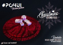 #POHUI - Christmas Round rug  #RED