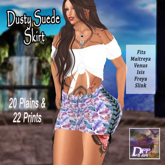 DFF Dusty Suede Skirt (Prints) #1