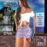 DFF Dusty Suede Skirt (Prints) #1