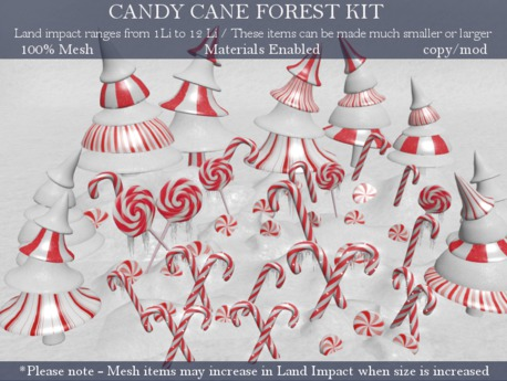Second Life Marketplace Love Candy Cane Forest Create Your