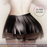 HEC - Heather Tintable Sheer Cutout Skater Skirt MSUG-01 (U)