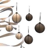 The Loft - Monochrome Christmas - Set -6 pces-